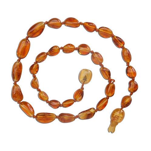 Amber Teething  Necklace - Honey Polished (ATNP-Honey)