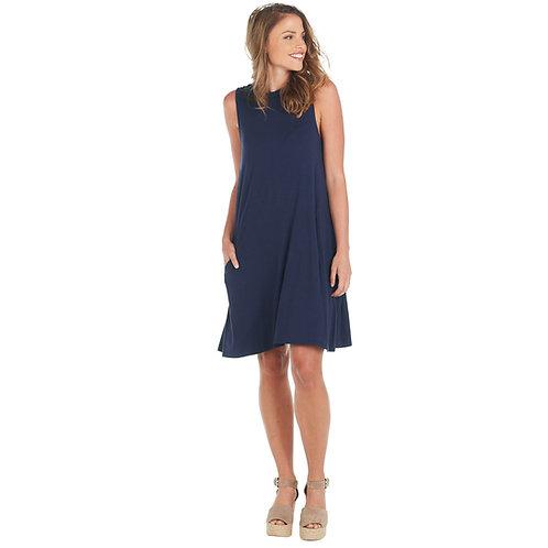 Alyssa Swing Dress- Navy