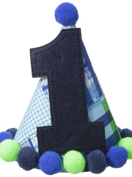 """Blue """"I'm One"""" Party Hat"""