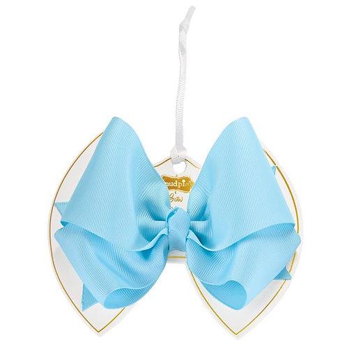 Light Blue Bow Clip