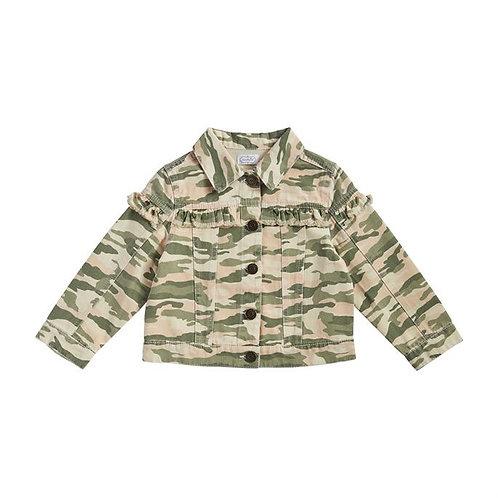 Camo Canvas Ruffle Jacket