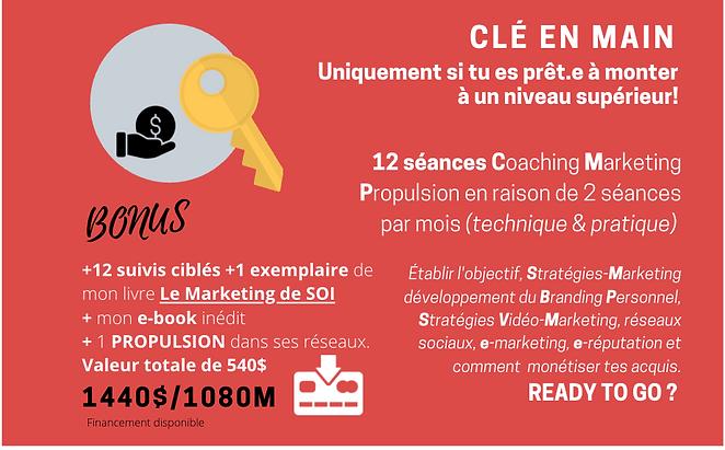 FORFAIT CLÉ EN MAIN Coaching