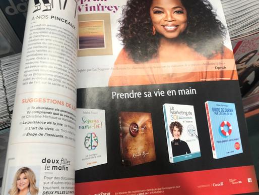 """WOW! Mon livre """"Le Marketing de SOI"""" dans le magazine Coup de Pouce !"""