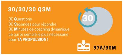 FORFAIT 30:30:30 QSM Coaching
