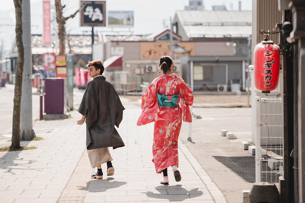 Hokkaido Destination Prewedding - Kimono