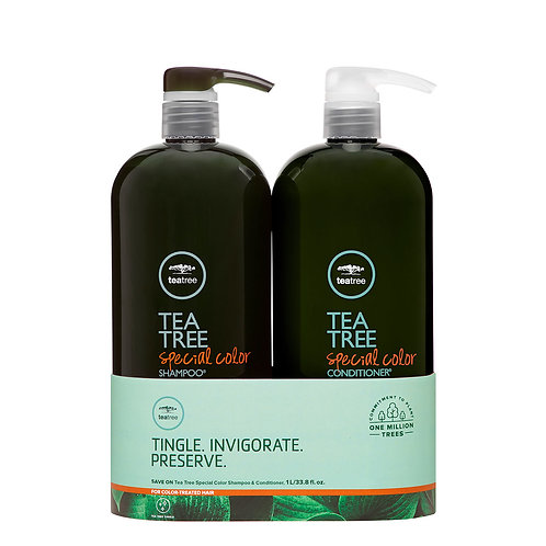Paul Mitchell Tea Tree Special Color Shampoo and Conditioner Liter Duo Set, 33.