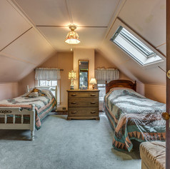 Attic bedroom North end.