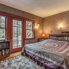 What at various times was Paul's bedroom, Frances study and then became the guest bedroom.  With door to the upstairs porch.