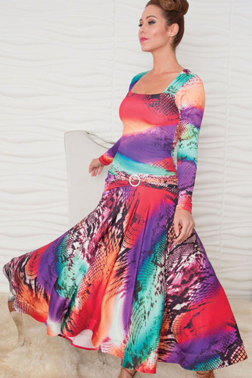 Women's Long Square Neck Ballroom Dress