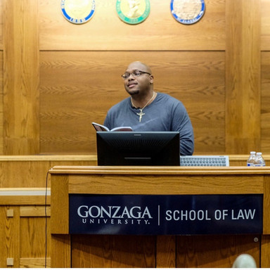 Ricky Speaking at Gonzaga