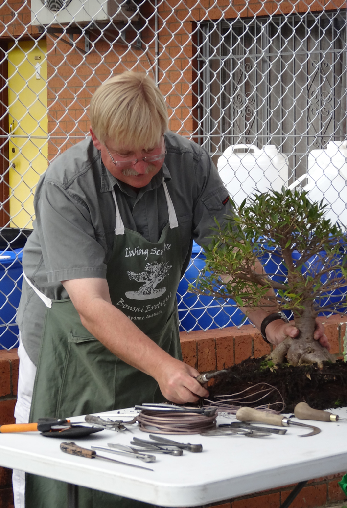 Thor doing bonsai workshop