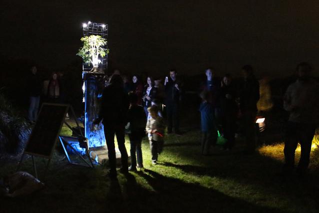 Sculpture on opening night