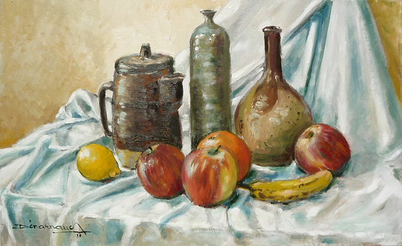POTERIES ET FRUITS - POTTERY AND FRUITS
