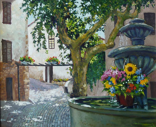 FONTAINE FLEURIE - Fountain with flowers