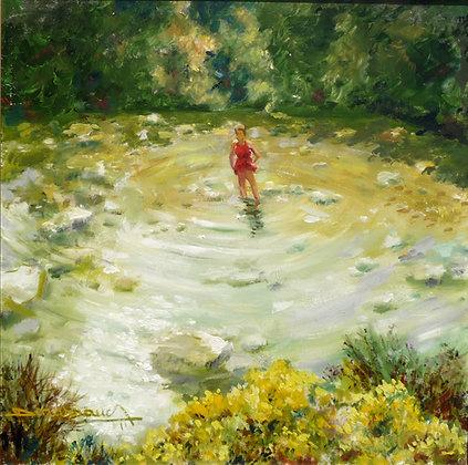 LES PIEDS DANS L'EAU - A DIP IN THE WATER