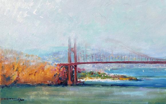 GOLDEN GATE DANS LA BRUME - Golden Gate in the fog