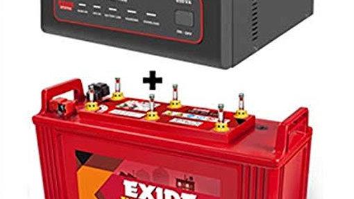 UPS 1000VA with Exide 100Ah battery