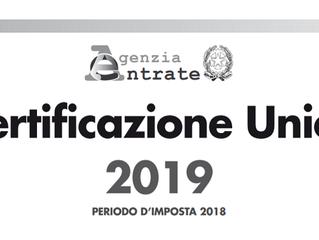 INPS: Certificazione Unica 2019 – modalità di rilascio