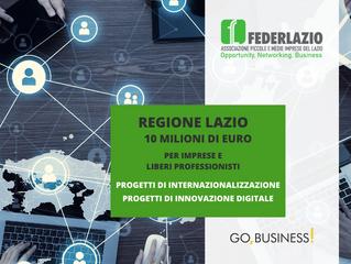 Regione Lazio: bandi per internazionalizzazione e digitalizzazione alle imprese
