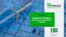 Webinar: Liquidità aziendale: finanziamenti agevolati per le imprese; 25 giugno 2020 - ore 17:00