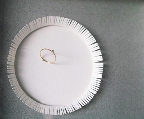 小さなダイヤの指輪
