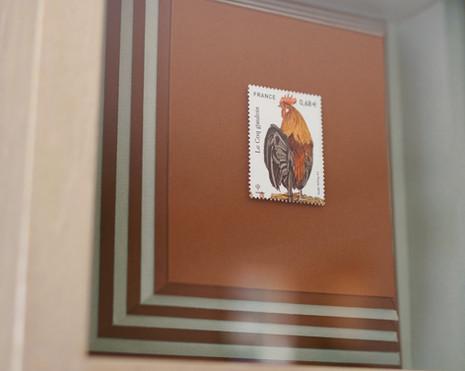 雄鶏の切手