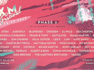 SXM Festival on the Caribbean Island of Saint Martin Announces Phase 2 Line-up for March 15-19 2017