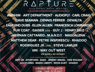 Rapture Electronic Music Festival: Phase 2 Lineup, Newly Added 5th Stage, Interactive Activities and