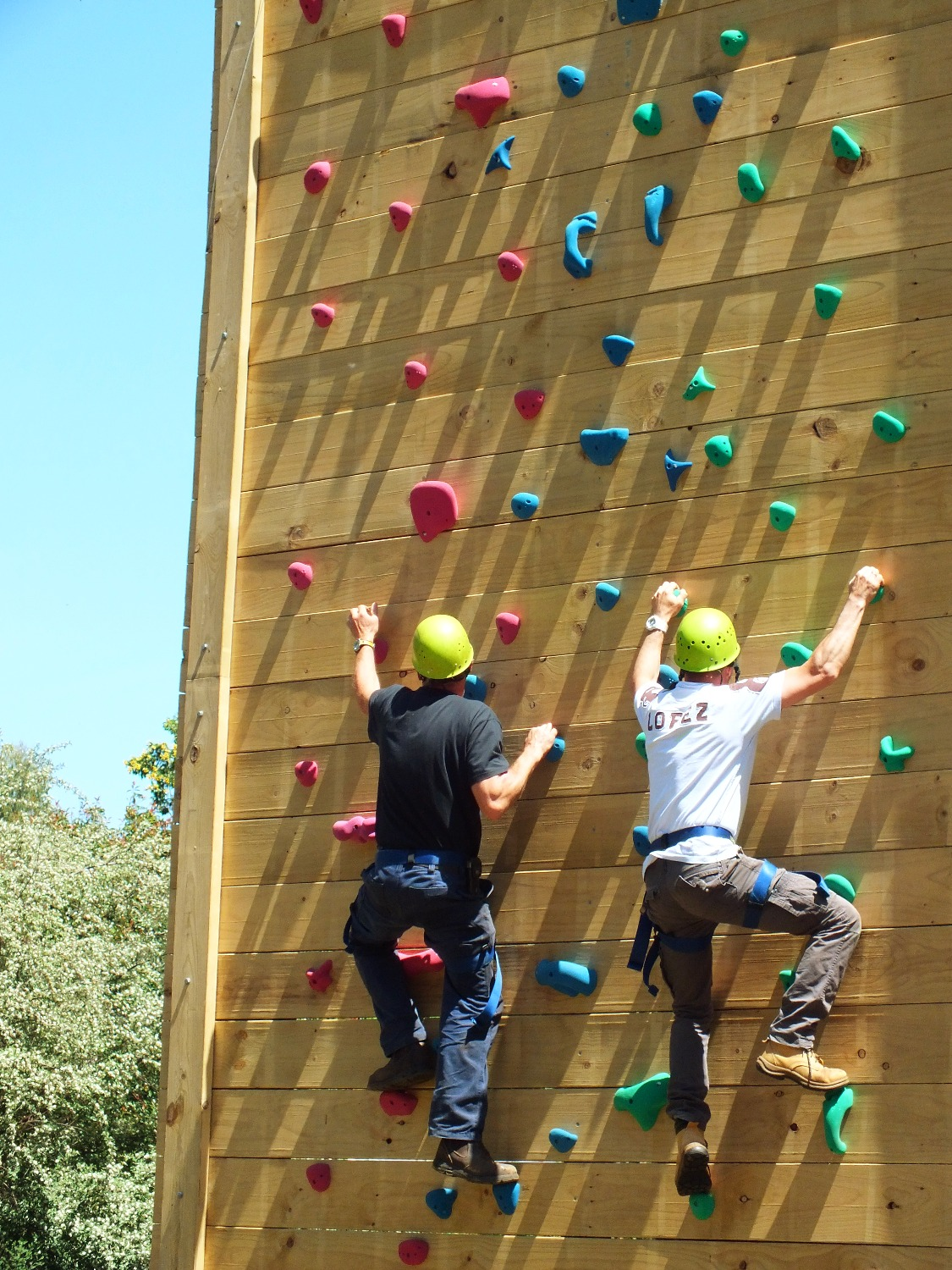 School Camp Climb Wall