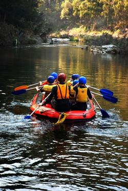 School Camp Rafting on Thomson River