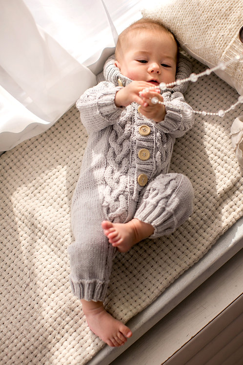 Light Grey Merino Onesie