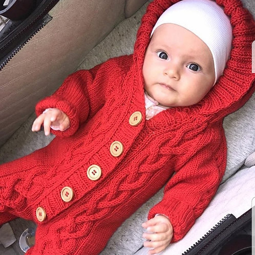 Red Merino Onesie