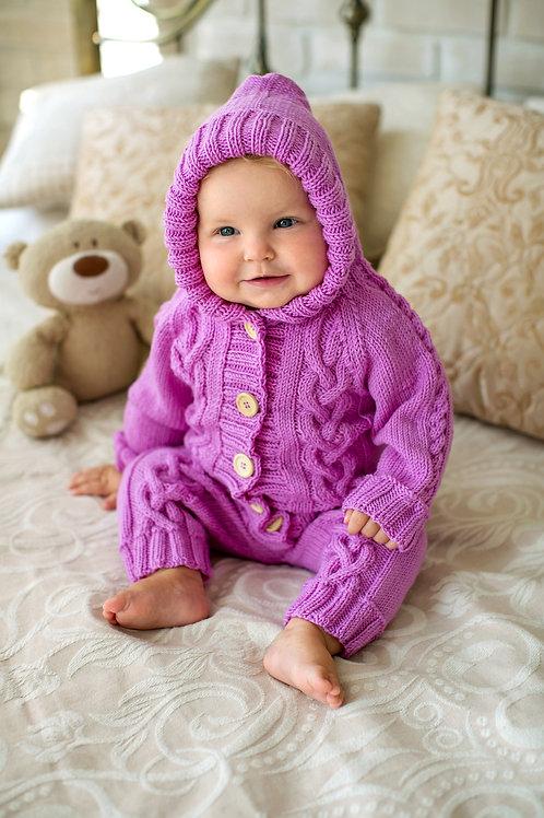 Purple Merino Onesie
