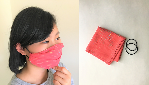 No-Sew Face Mask with Handkerchief and H