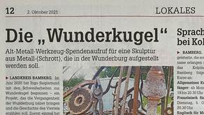 Wunderkugel auf dem Titel von Bamberg Stadt & Land