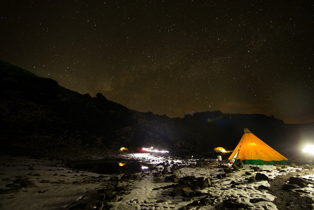 Camping on Mt. Kenya
