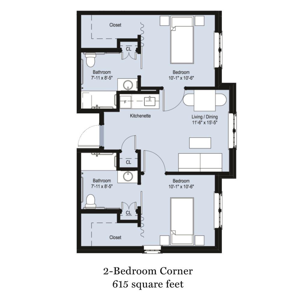 2-Bedroom Corner