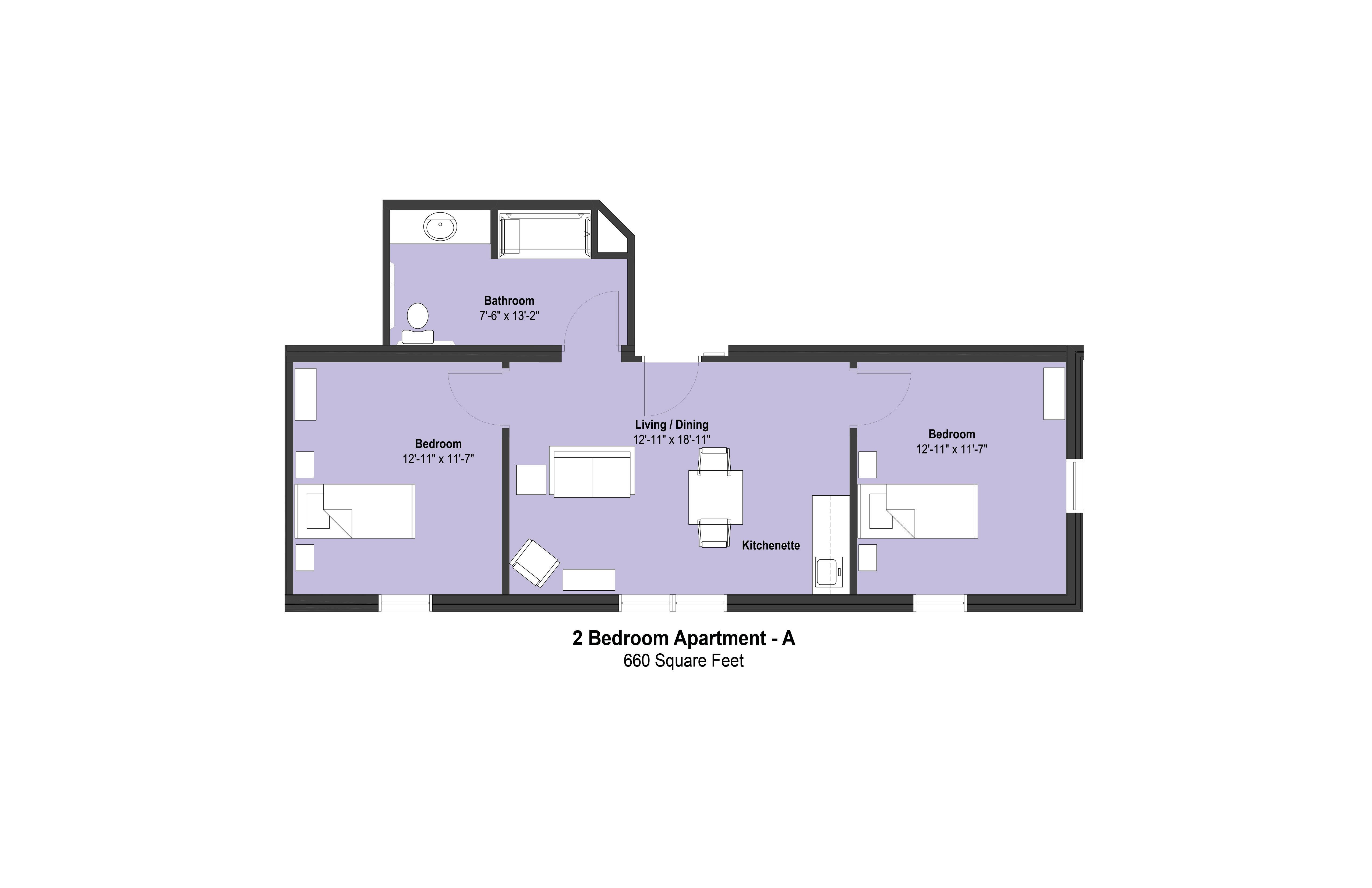 2 Bedroom Apartment - A - Color