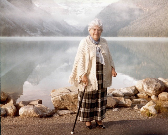 Margaret at Lake Louise