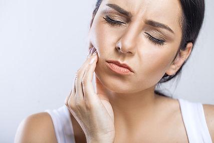 Teeth Problem. Woman Feeling Tooth Pain.