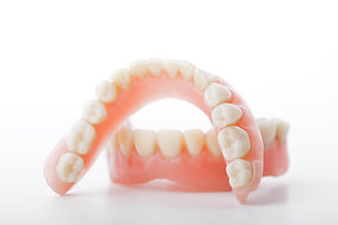 medical denture smile jaws teeth on whit