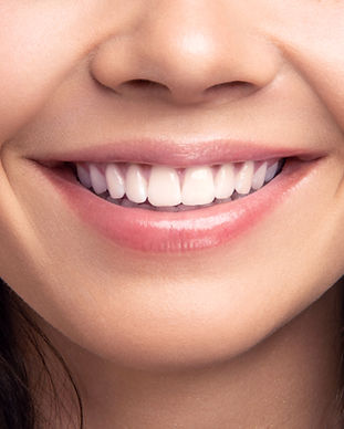 Closeup smile of young teen happy female