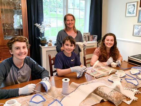 Karen Harriman, DDS and Family Build N95 Masks for Essential Workers During COVID-19 Pandemic