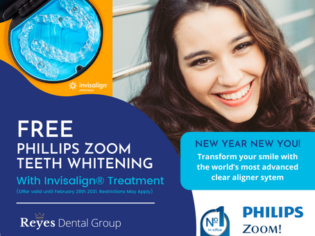 New Year, New You! Invisalign® and Philips Zoom Teeth Whitening Special Offer