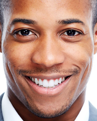 African American man close-up isolated w