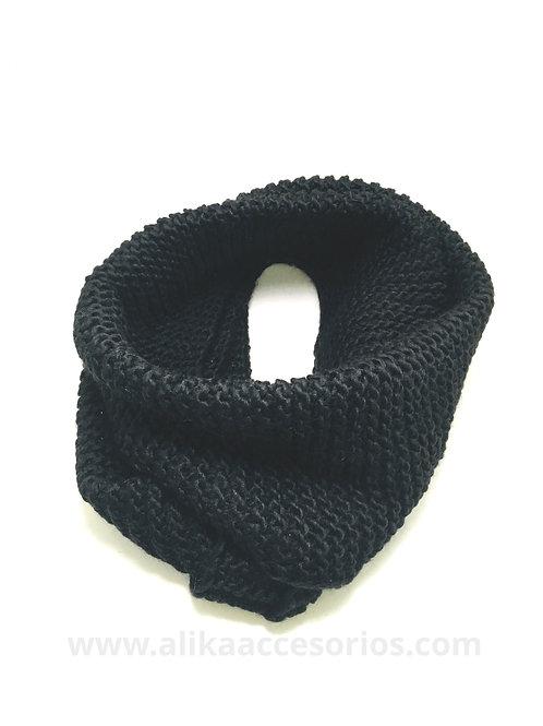 Cuello de Lana Tejido Negro