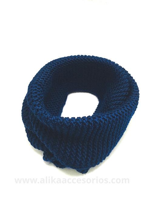 Cuello de Lana Tejido Azul Rey