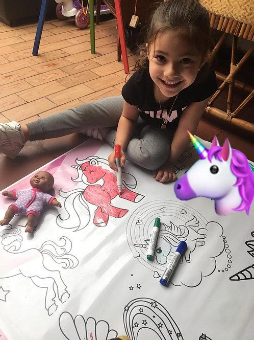 Tapete Didáctico de Pony's para Colorear