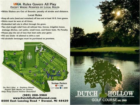Dutch Hollow Score Card Back