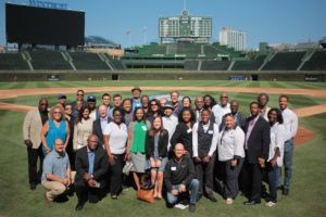 Chicago Community Leaders at Wrigley Field at a Kemp Forum on Expanding Opportunity Follow-up Event.
